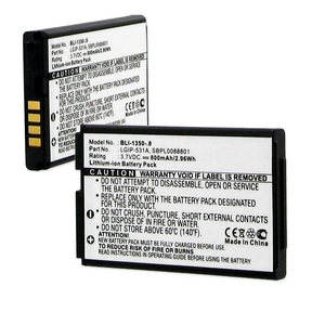 LG LGIP-531A 3.7V 800mAh LI-ION BATTERY