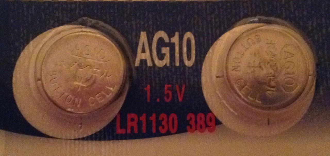AG10 / LR1130 Alkaline Button Watch Battery 1.5V - 2 Pack - FREE SHIPPING!