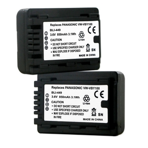 PANASONIC VW-VBY100 3.6V 850MAH Video Battery + FREE SHIPPING