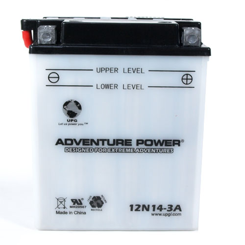 12N14-3A 12 Volt 14 Amp Hrs Conventional Power Sport Battery
