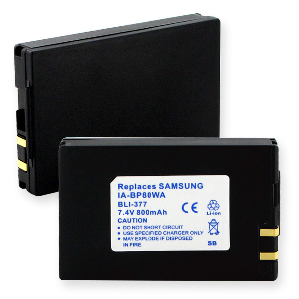 SAMSUNG IA-BP80WA LI-ION 800mAh VIDEO BATTERY + FREE SHIPPING