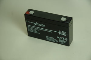 Sealed Lead Acid Battery 6 Volt 7 Ah - Universal