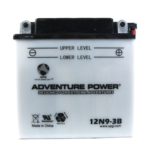 12N9-3B 12 Volt 9 Amp Hrs Conventional Power Sport Battery