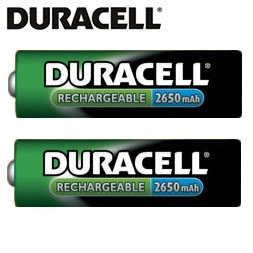 Duracell AA Rechargeable  Battery  2650mAh - 2 Pack