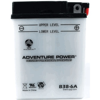 B38-6A 6 Volt 13 Amp Hrs Conventional Power Sport Battery