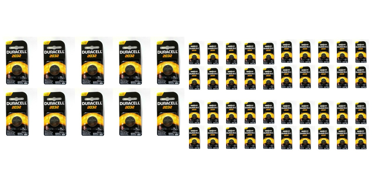 Duracell CR2032 Coin Battery - 50 Pack + FREE SHIPPING