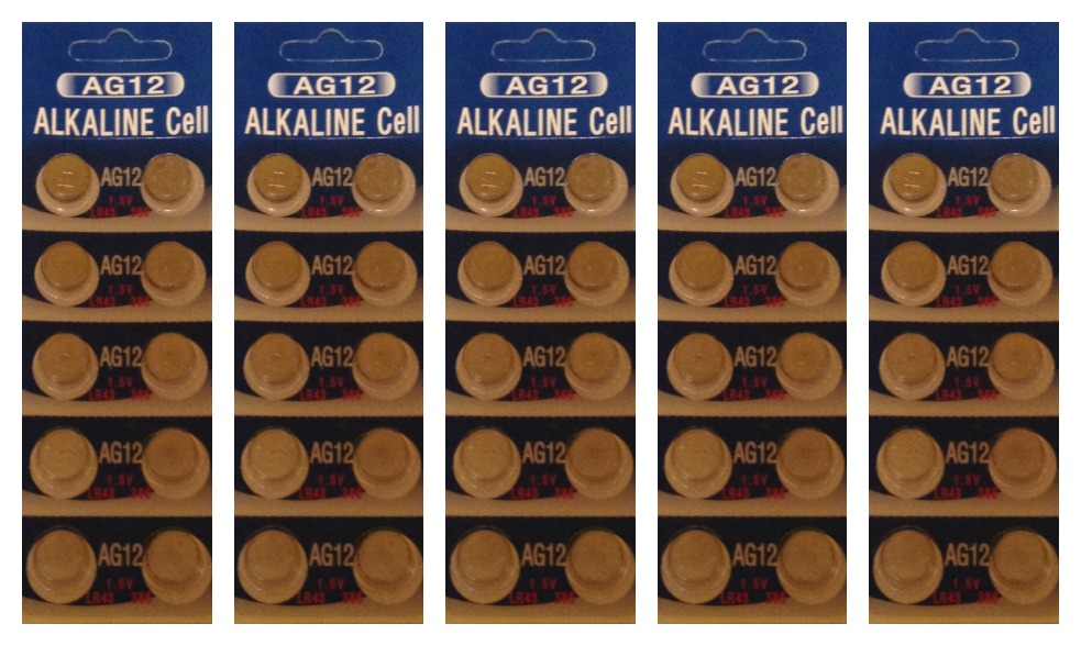 AG12 / LR43 Alkaline Button Watch Battery 1.5V - 50 Pack - FREE SHIPPING