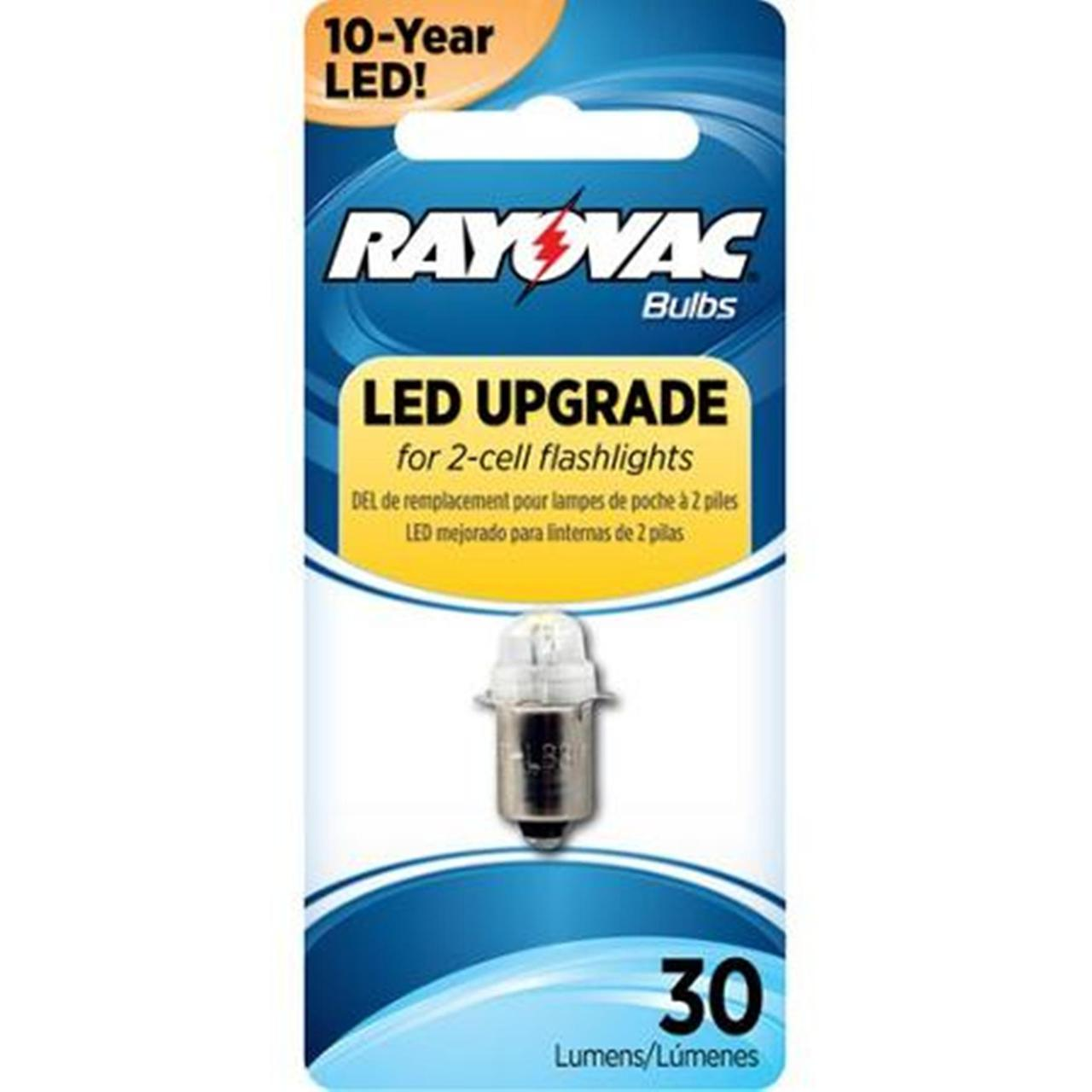 Rayovac LED Upgrade Bulb For 2-Cell Flashlights 3VLED-1T + FREE SHIPPING!