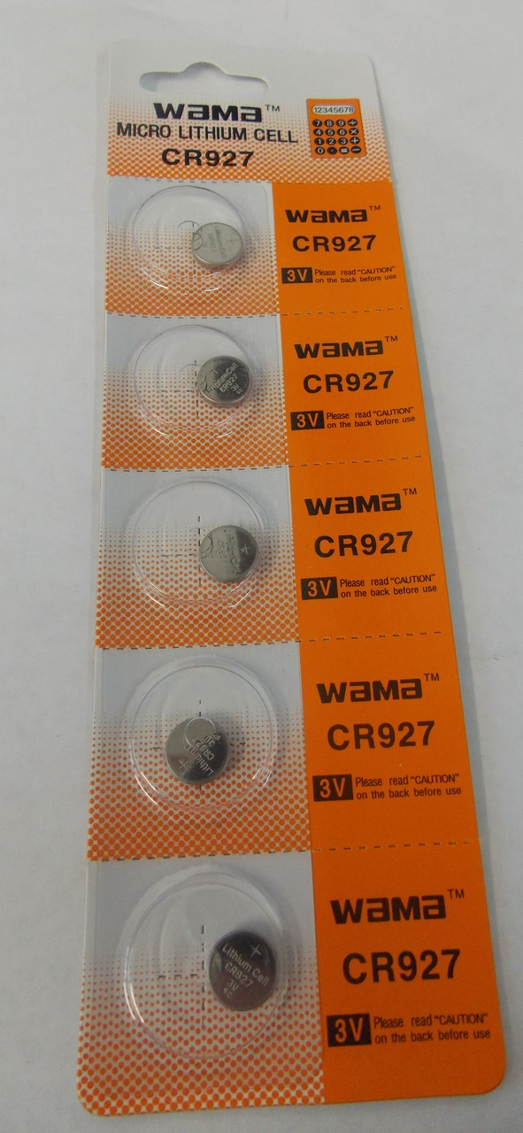 BBW CR927 3V Lithium Coin Battery 50 Pack -  FREE SHIPPING!