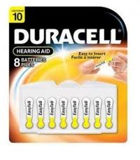 Duracell Easy Tab Hearing Aid Batteries Size 10 - 8Packs Of 8 + FREE SHIPPING!
