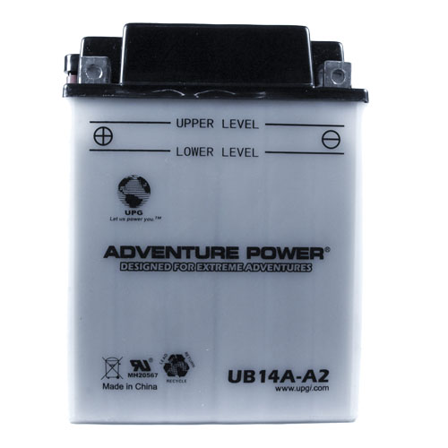 YB14A-A2 12 Volt 14 Amp Hrs Conventional Power Sport Battery