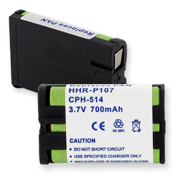 PANASONIC HHR-P107 NiMH 700mAh CORDLESS BATTERY + FREE SHIPPING