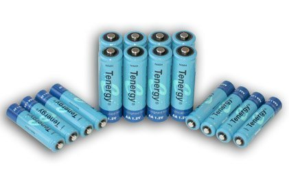 Tenergy High Capacity NiMH Rechargeable Battery Package- 8 AA 2600 MAh And 8 AAA 1000 MAh + FREE SHIPPING!