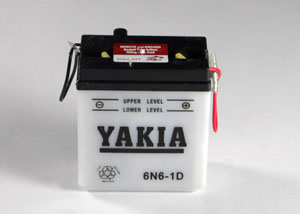 6 Volt 6 AMP Motorcycle And Power Sport Battery (6N6-1D )