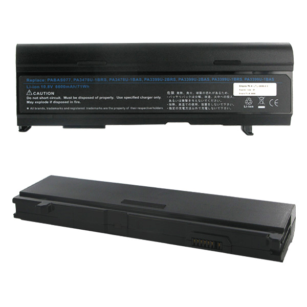 TOSHIBA 10.8 Volt 6600mAh Li-ION Laptop Battery