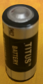 Titus 2/3AA Size 3.6V ER14335T Lithium Battery With Solder Tabs - 1 Pack + Free Shipping!