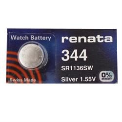 Renata 344 - SR1136SR Silver Oxide Button Battery 1.55V - 20 Pack + Free Shipping!     0% Mercury