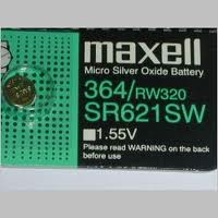 Maxell 364 - SR621 Silver Oxide Button Battery 1.55V - 100 Pack + FREE SHIPPING!