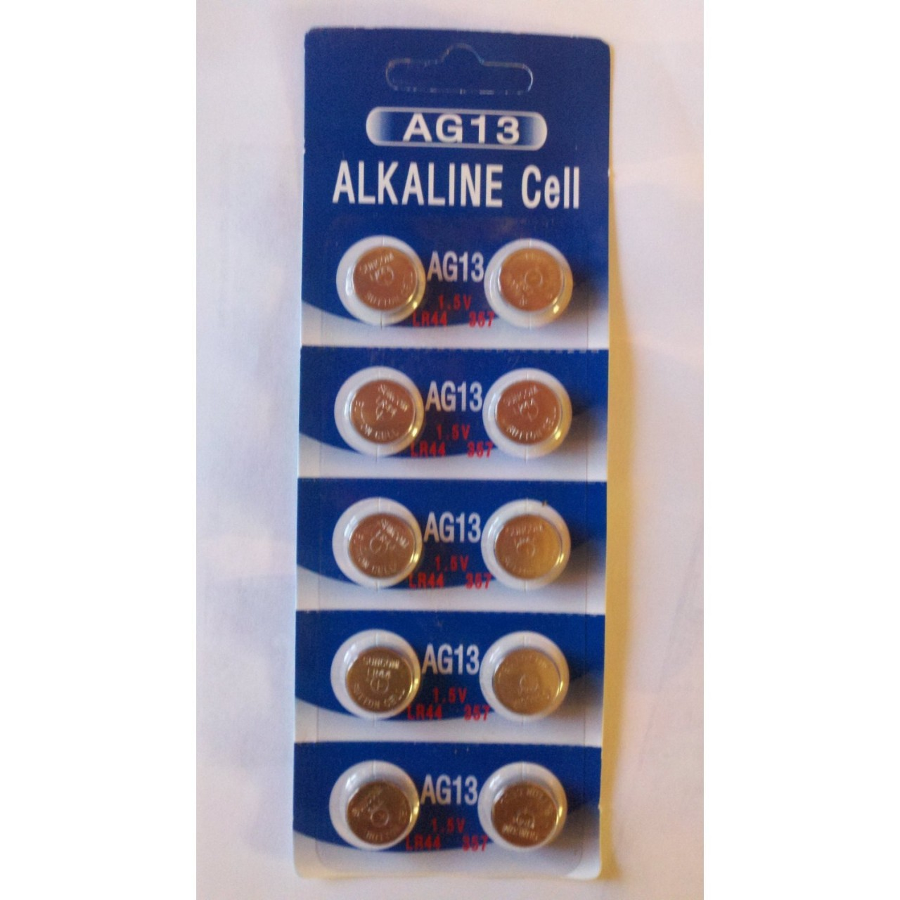 AG13 / LR44 Alkaline Button Watch Battery 1.5V  100 Pack With Free Shipping