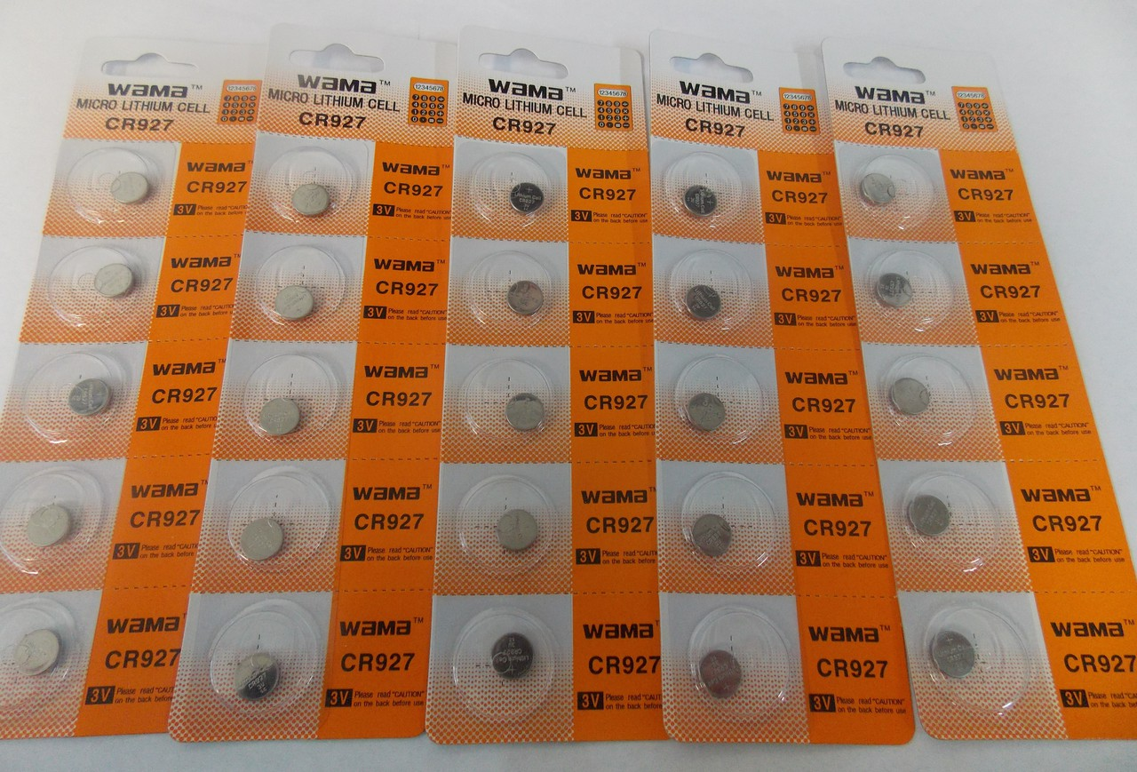 BBW CR927 3V Lithium Coin Battery 25 Pack -  FREE SHIPPING!