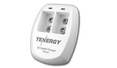 Tenergy TN141 2 Bay 9V Smart Charger For NiMH Rechargeable Batteries + FREE SHIPPING!