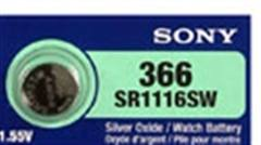 Sony 365/366 - SR1116 Silver Oxide Button Battery 1.55V 50 Pack + FREE SHIPPING!