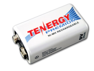 Tenergy Premium 9V NiMH 200 MAh Rechargeable Battery
