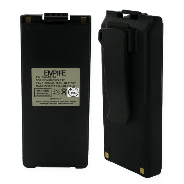 ICOM BP196 NiMH 1600mAh Two-way Battery