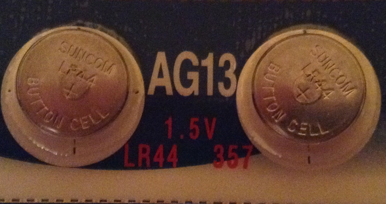 AG13 / LR44 Alkaline Button Watch Battery 1.5V - 2 Pack - FREE SHIPPING