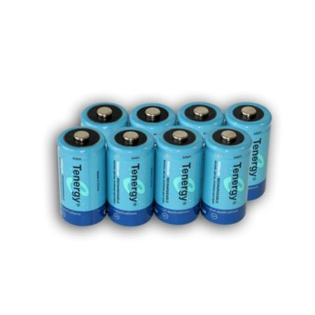 Tenergy 8 Pcs Of D Size 10 000mAh High Capacity High Rate NiMH Rechargeable Batteries + FREE SHIPPING!