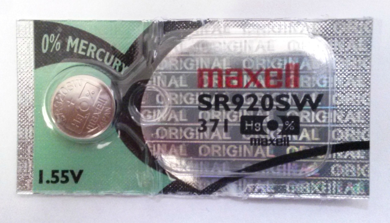 Maxell 371/370 - SR920 Silver Oxide Button Battery 1.55V - 1 Pack + FREE SHIPPING!