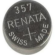 Renata 357/303 - SR44 Silver Oxide Button Battery 1.55V