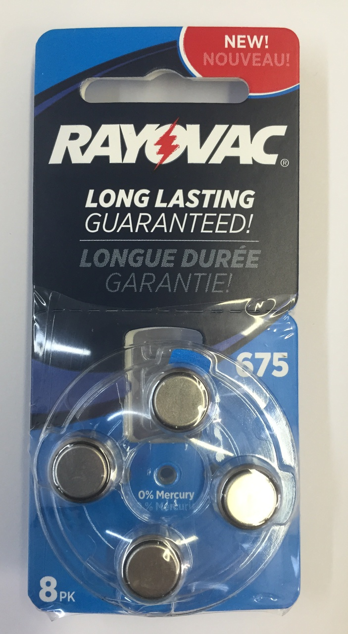 Rayovac Hearing Aid Batteries Size 675 - 8 Batteries + FREE SHIPPING!
