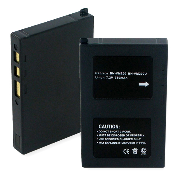 JVC BN-VM200U LI-ION 650mAh Video Battery
