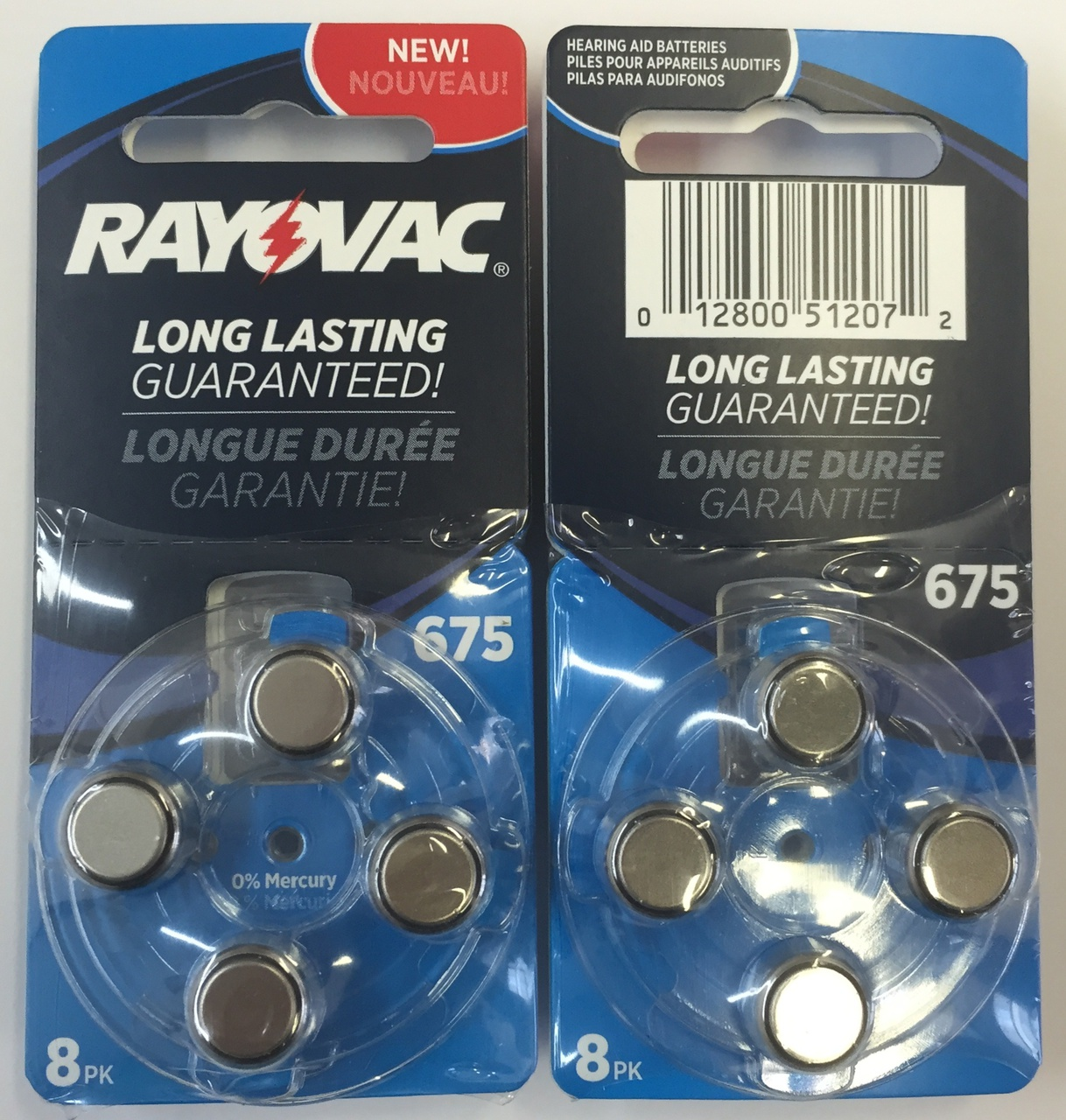 Rayovac Hearing Aid Batteries Size 675 - 16 Batteries + FREE SHIPPING!