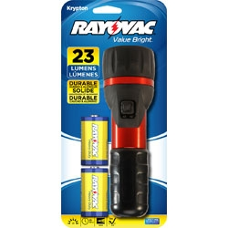Rayovac Value Bright  Flashlight With 2D Batteries + Free Shipping