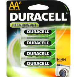 Duracell AA Rechargeable  Battery  2450mAh - 48 Pack (6 Cards Contain 8 Batteries Each)