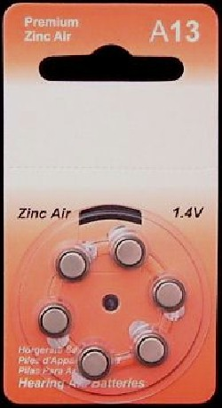 A13 Zinc Air Hearing Aid Batteries - 20 Wheels - 6 Batteries Per Wheel + FREE SHIPPING!