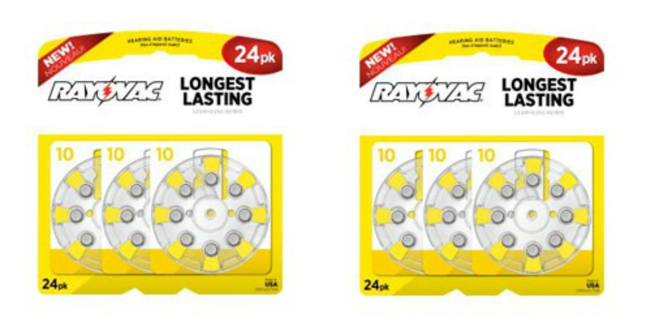 (Pack Of 48) Rayovac Size 10 Long Lasting Hearing Aid Batteries -  EXP10/2019 + FREE SHIPPING