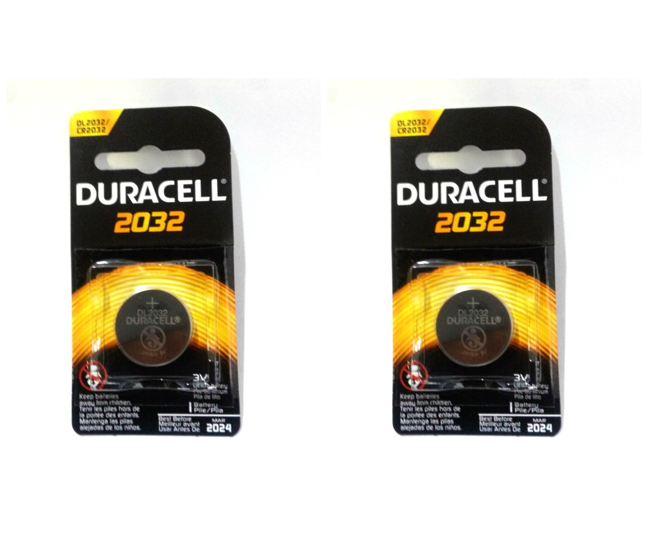 Duracell CR2032 Coin Battery - 2 Pack + FREE SHIPPING