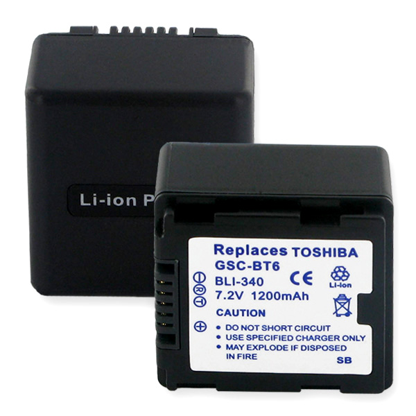 TOSHIBA GSC-BT6 LI-ION 1200mAh Video Battery