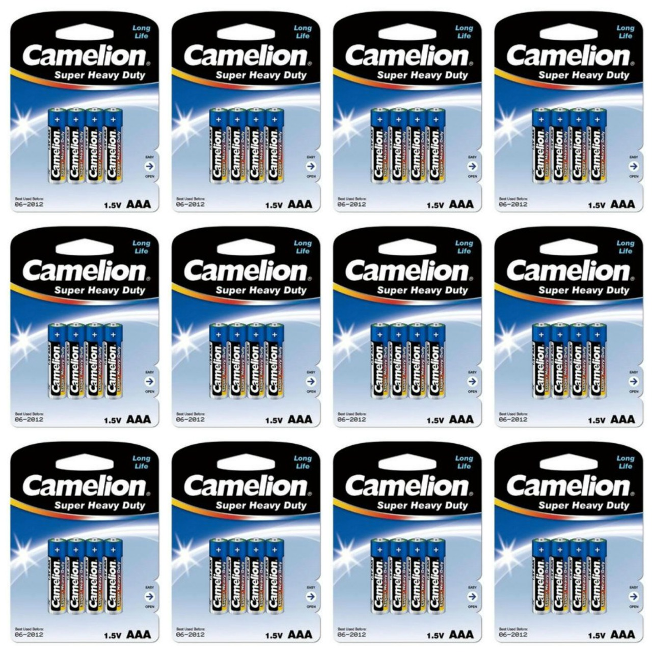 Camelion AAA Size Super Heavy Duty Batteries 100 Pack - Retail Carded + Free Shipping