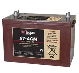 Trojan AGM Cycling Battery 12V 89Ah Group Size 27