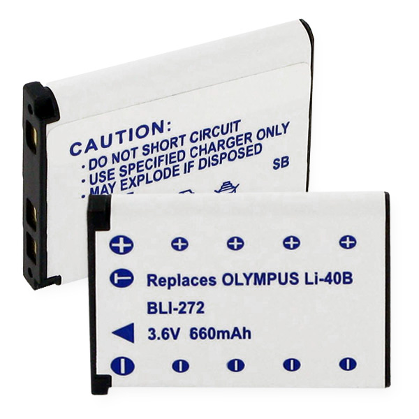 OLYMPUS Li40B LI-ION 660mAh Battery + FREE SHIPPING