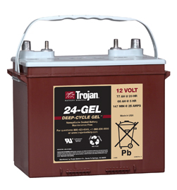 Trojan Gel Deep Cycle  Battery 12V 77Ah Group Size 24