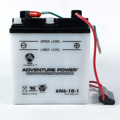 6N6-1B-1 6 Volt 6 Amp Hrs Conventional Power Sport Battery