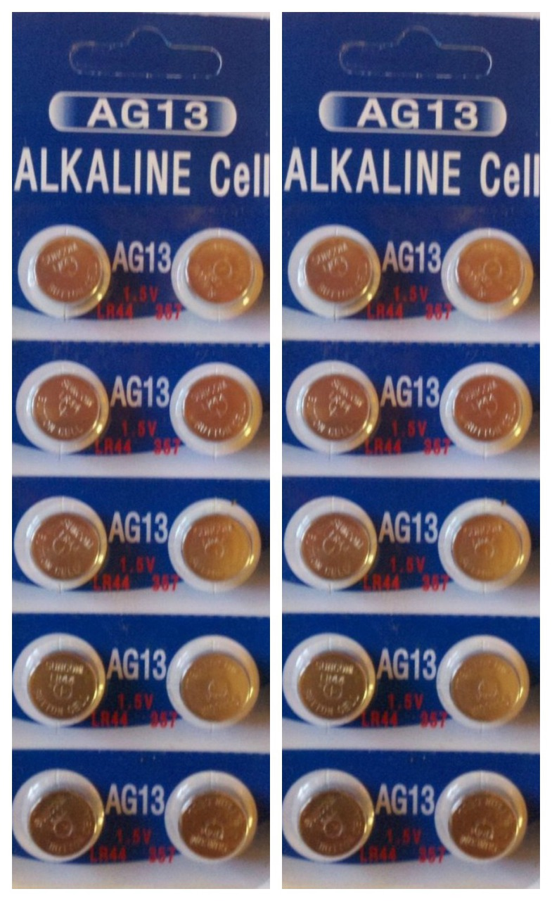 AG13 / LR44 Alkaline Button Watch Battery 1.5V - 20 Pack - FREE SHIPPING