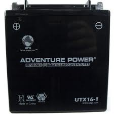 YTX16-BS 12 Volt 14 Amp Hrs Dry Charge AGM Power Sport Battery