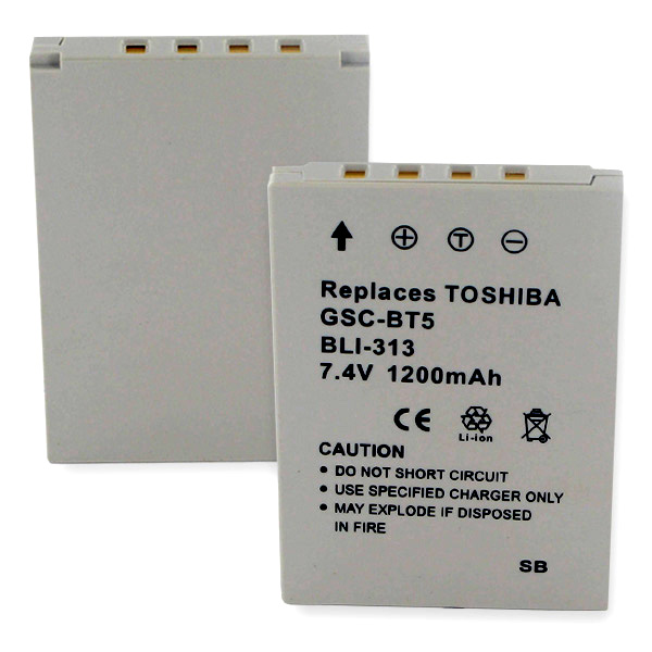 TOSHIBA GSC-BT5 LI-ION 1200mAh Video Battery